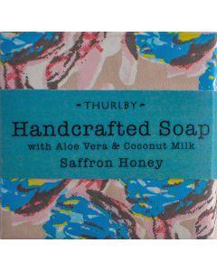 Gondwana Soap with a blend of Aloe Vera, Coconut Milk and Saffron and Honey